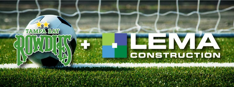 LEMA Construction Announces Sponsorship with Tampa Bay Rowdies