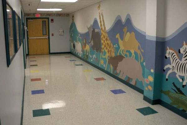 All Children's Hallway With Mural