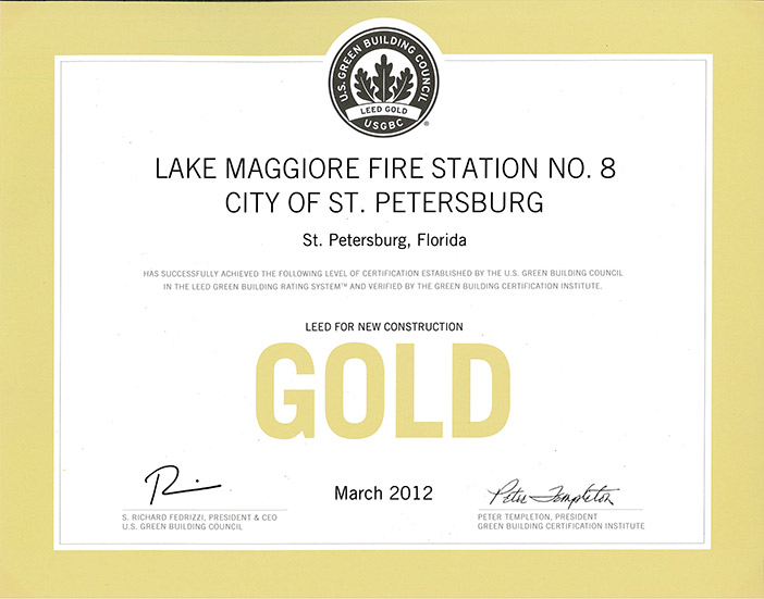 leed Gold for new construction