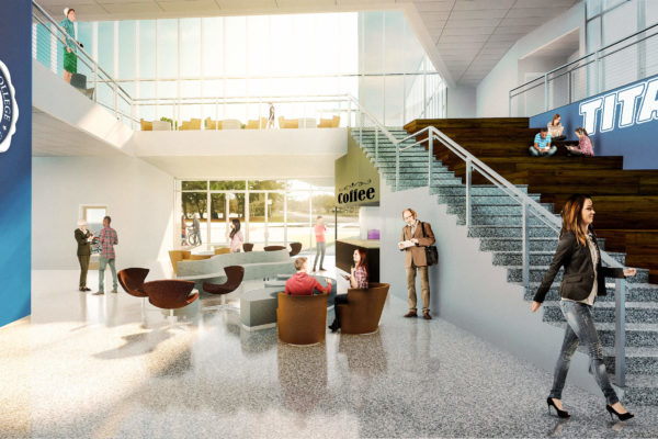SPC Rendering Lower Level Coffee Shop