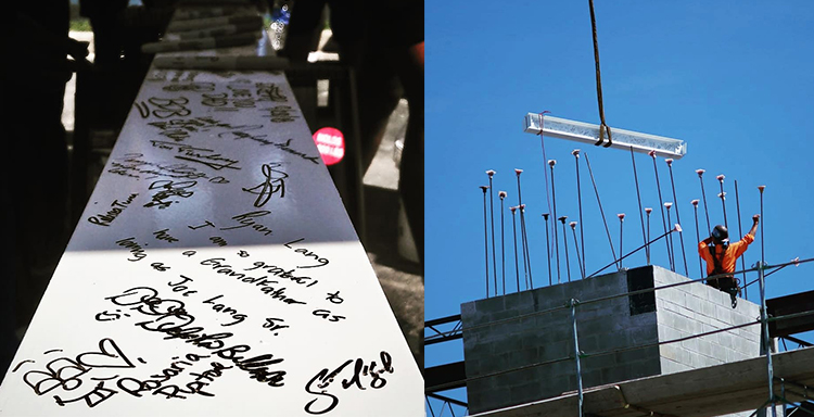 Topping off Ceremony Beam Signing