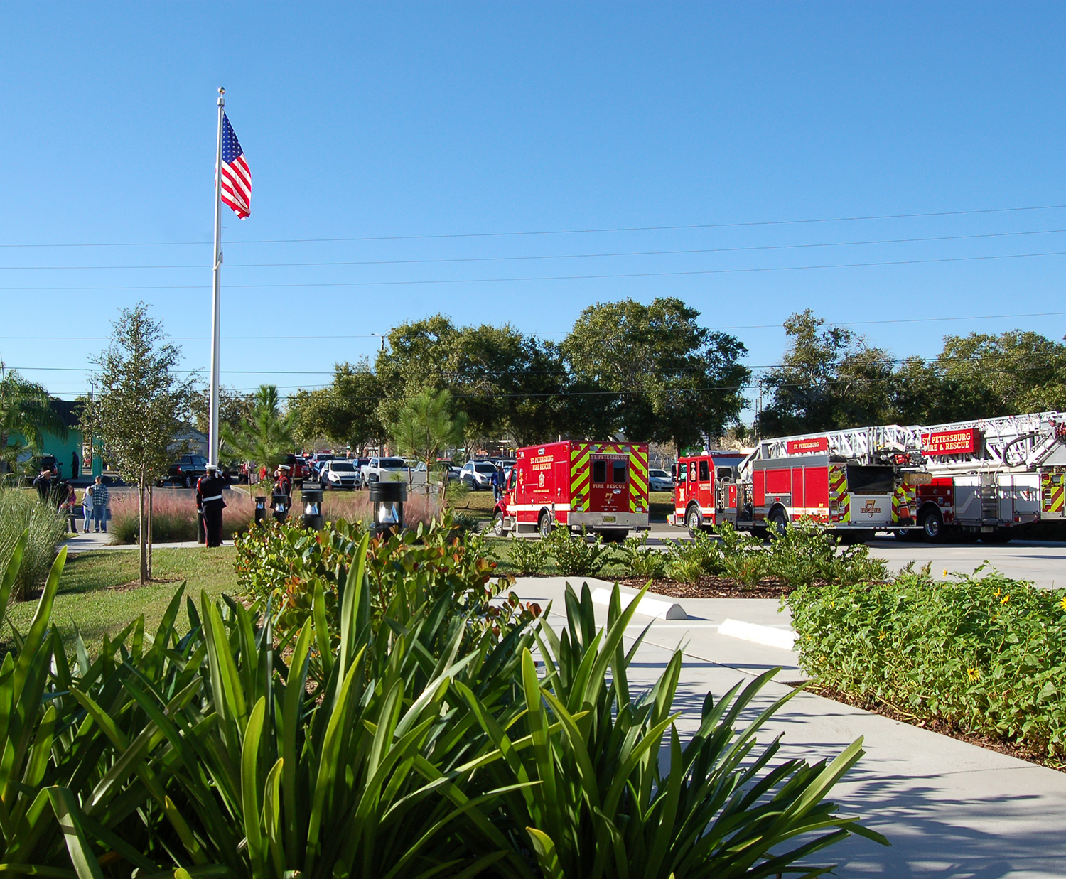 Fire Station 7 Flag Raising