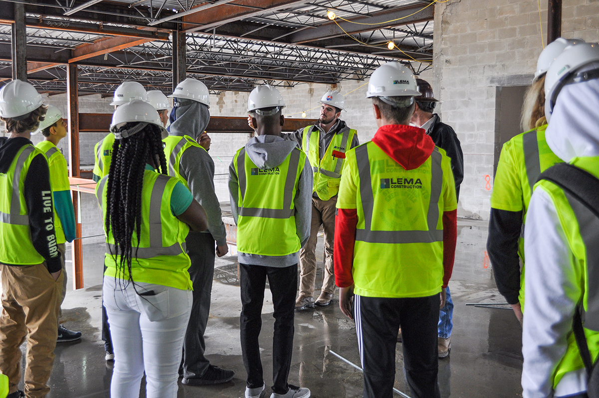 LEMA Construction Supports Youth in Construction Technologies.