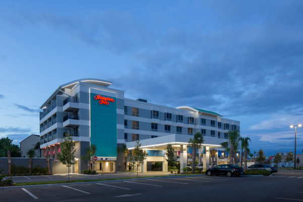 Hampton Inn Dunedin at Night