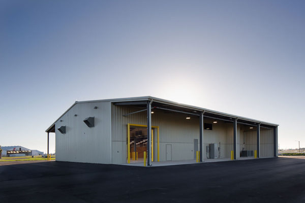 Dusk View of Back of Maintenance Building