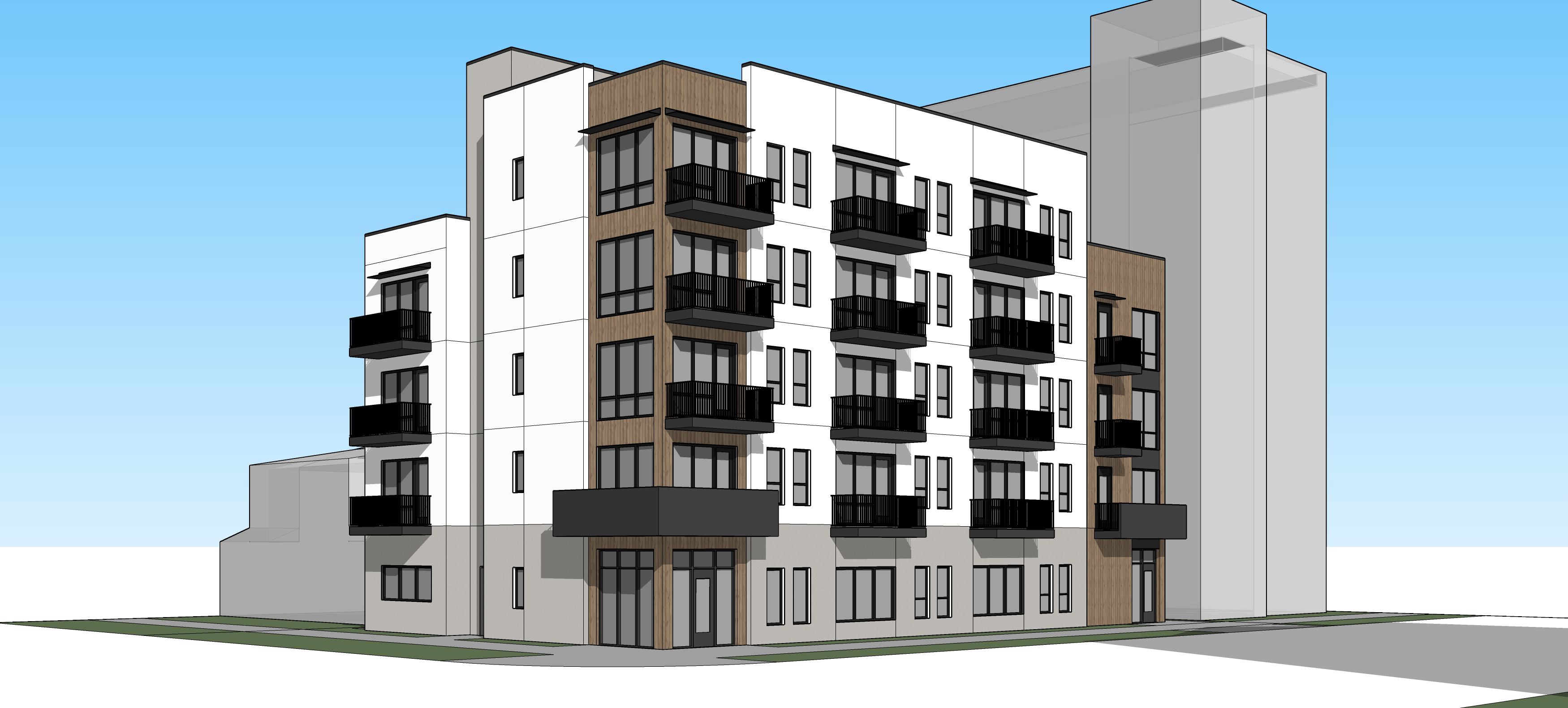 357 Apartments Rendering Corner